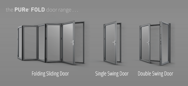 PURe folding sliding - single swing - double swing doors
